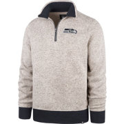 '47 Men's Seattle Seahawks Oatmeal Kodiak Quarter-Zip