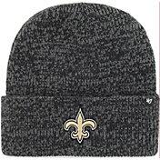 '47 Men's New Orleans Saints Brainfreeze Black Cuffed Knit