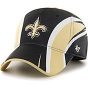 '47 Men's New Orleans Saints Eclipse Solo Black Stretch Fit Hat