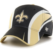 '47 Men's New Orleans Saints Eclipse Solo Black Stretch Fit Hat