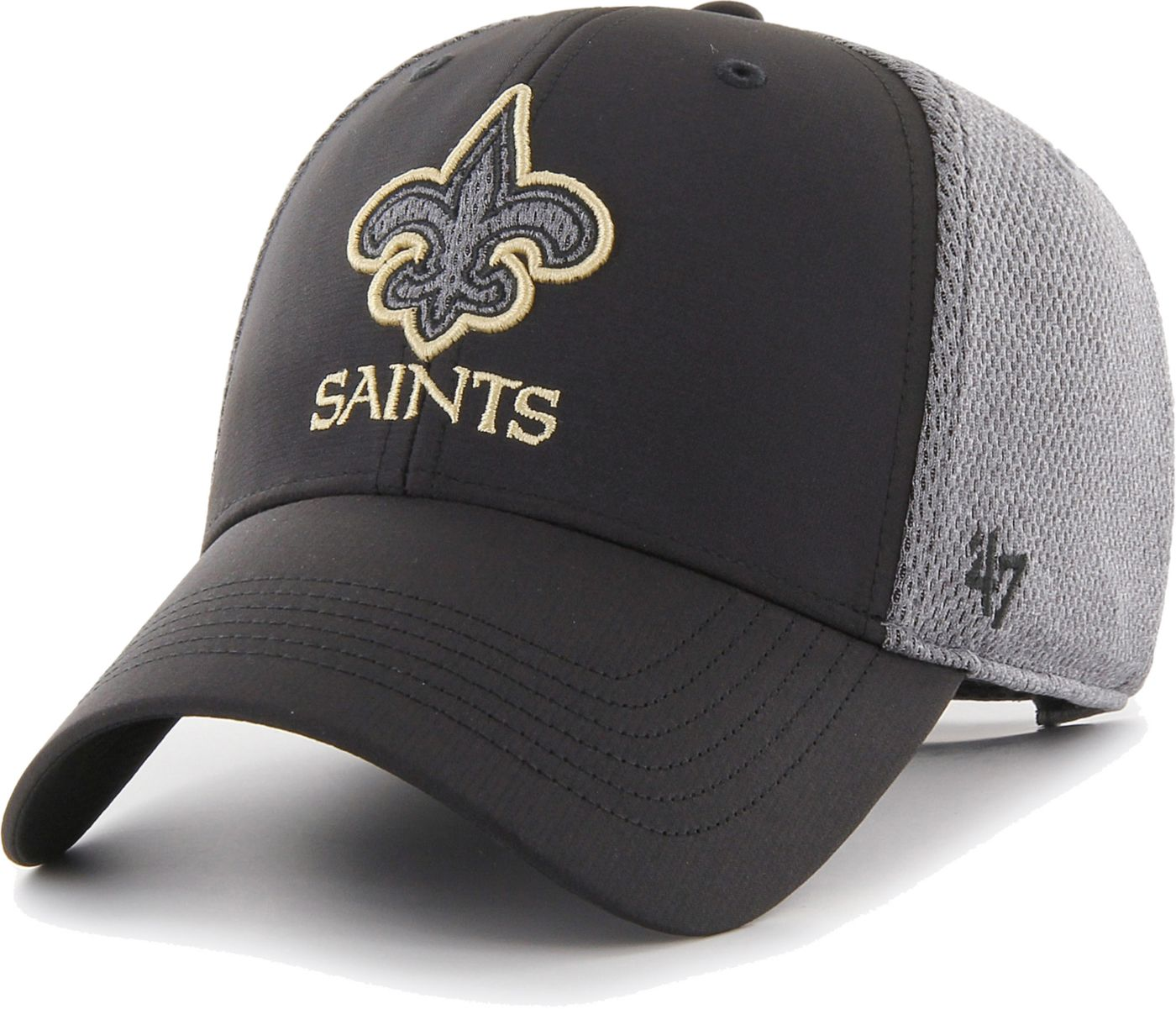 '47 Men's New Orleans Saints Arlo MVP Adjustable Black Hat