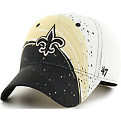 '47 Men's New Orleans Saints Splash Solo Black Stretch Fit Hat