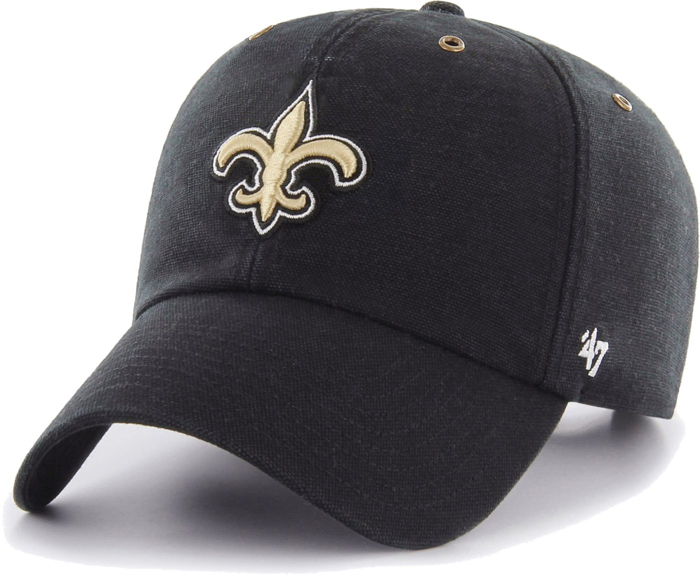 '47 Men's New Orleans Saints Carhartt Clean Up Adjustable Black Hat