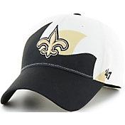 '47 Men's New Orleans Saints Wave Solo White Stretch Fit Hat
