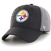 '47 Men's Pittsburgh Steelers Wycliff Contender Stretch Fit Black Hat