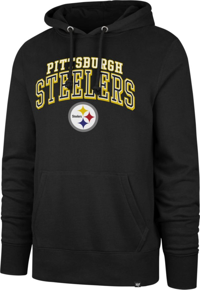 half off b4d72 54ad9 '47 Men's Pittsburgh Steelers Headline Black Hoodie