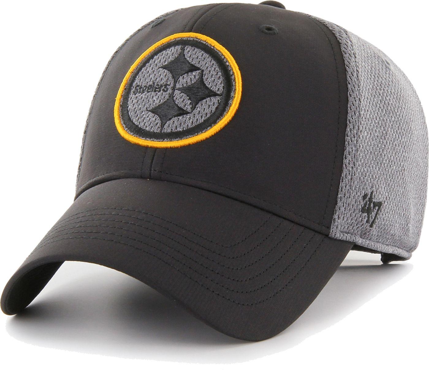 '47 Men's Pittsburgh Steelers Arlo MVP Adjustable Black Hat