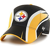 '47 Men's Pittsburgh Steelers Eclipse Solo Black Stretch Fit Hat