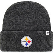 '47 Men's Pittsburgh Steelers Brainfreeze Black Cuffed Knit