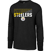 '47 Men's Pittsburgh Steelers Club Long Sleeve Black Shirt