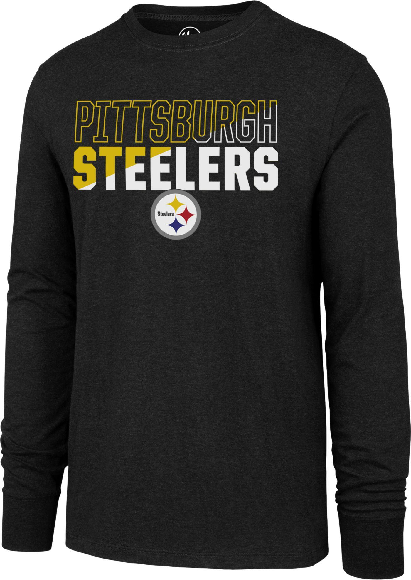 '47 Men's Pittsburgh Steelers Club Long Sleeve Black Shirt