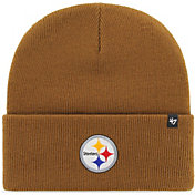'47 Men's Pittsburgh Steelers Carhartt Brown Knit Hat