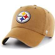 '47 Men's Pittsburgh Steelers Carhartt Clean Up Adjustable Brown Hat