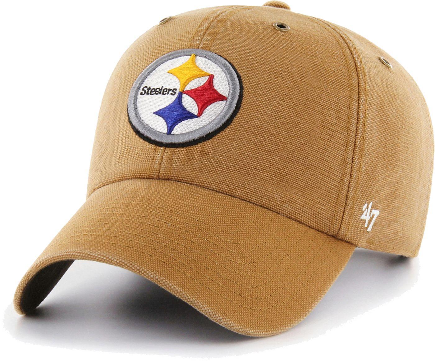 '47 Men's Pittsburgh Steelers Carhartt Clean Up Adjustable Brown Hat