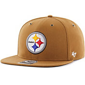 '47 Men's Pittsburgh Steelers Carhartt Captain Adjustable Brown Hat