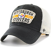 '47 Men's Pittsburgh Steelers Crawford Clean Up Adjustable Black Hat