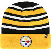 '47 Men's Pittsburgh Steelers Rotation Black Cuffed Knit Hat