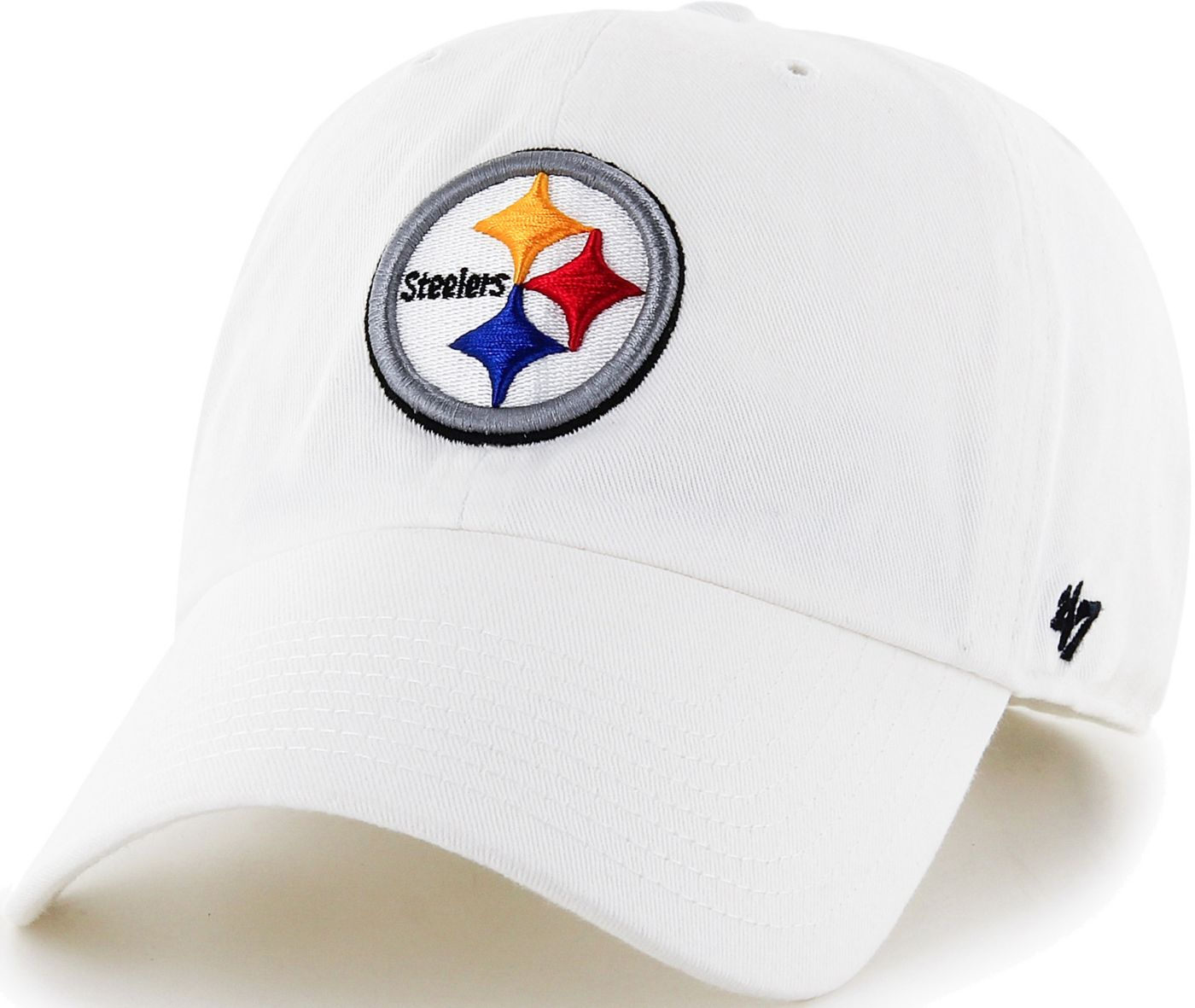 '47 Men's Pittsburgh Steelers Clean Up White Adjustable Hat