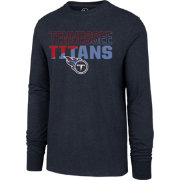 '47 Men's Tennessee Titans Club Long Sleeve Navy Shirt