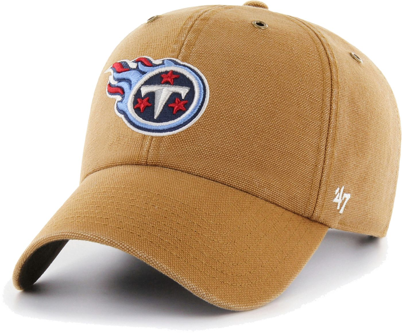 '47 Men's Tennessee Titans Carhartt Clean Up Adjustable Brown Hat