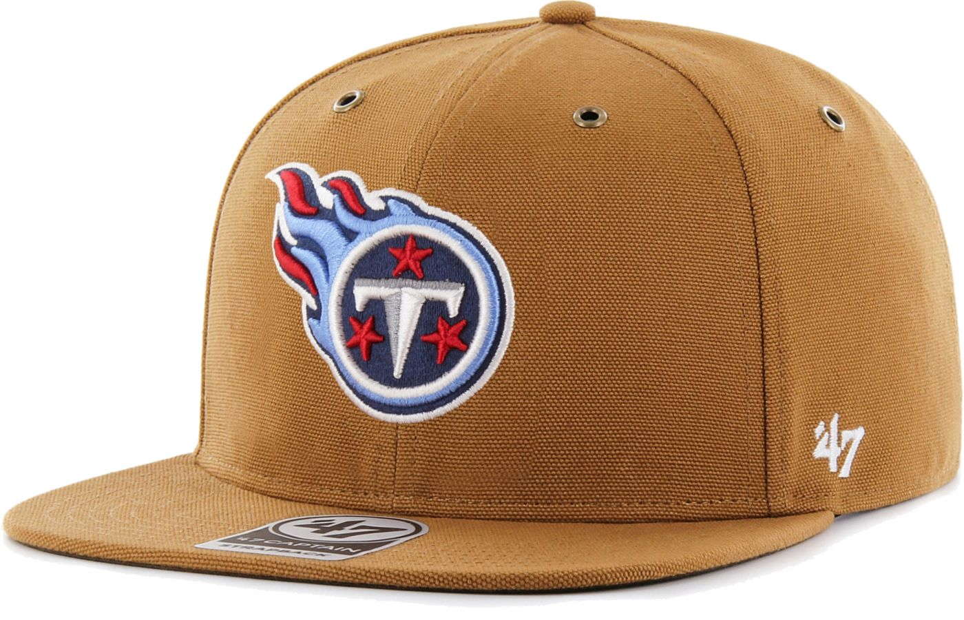 '47 Men's Tennessee Titans Carhartt Captain Adjustable Brown Hat