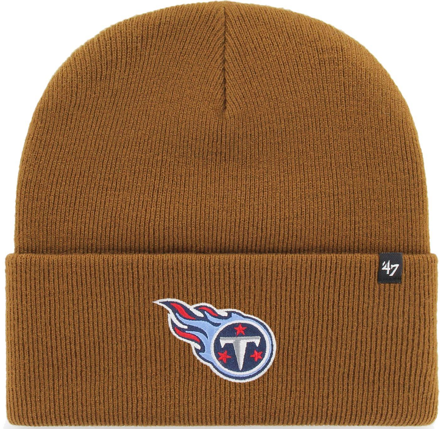 '47 Men's Tennessee Titans Carhartt Brown Knit Hat