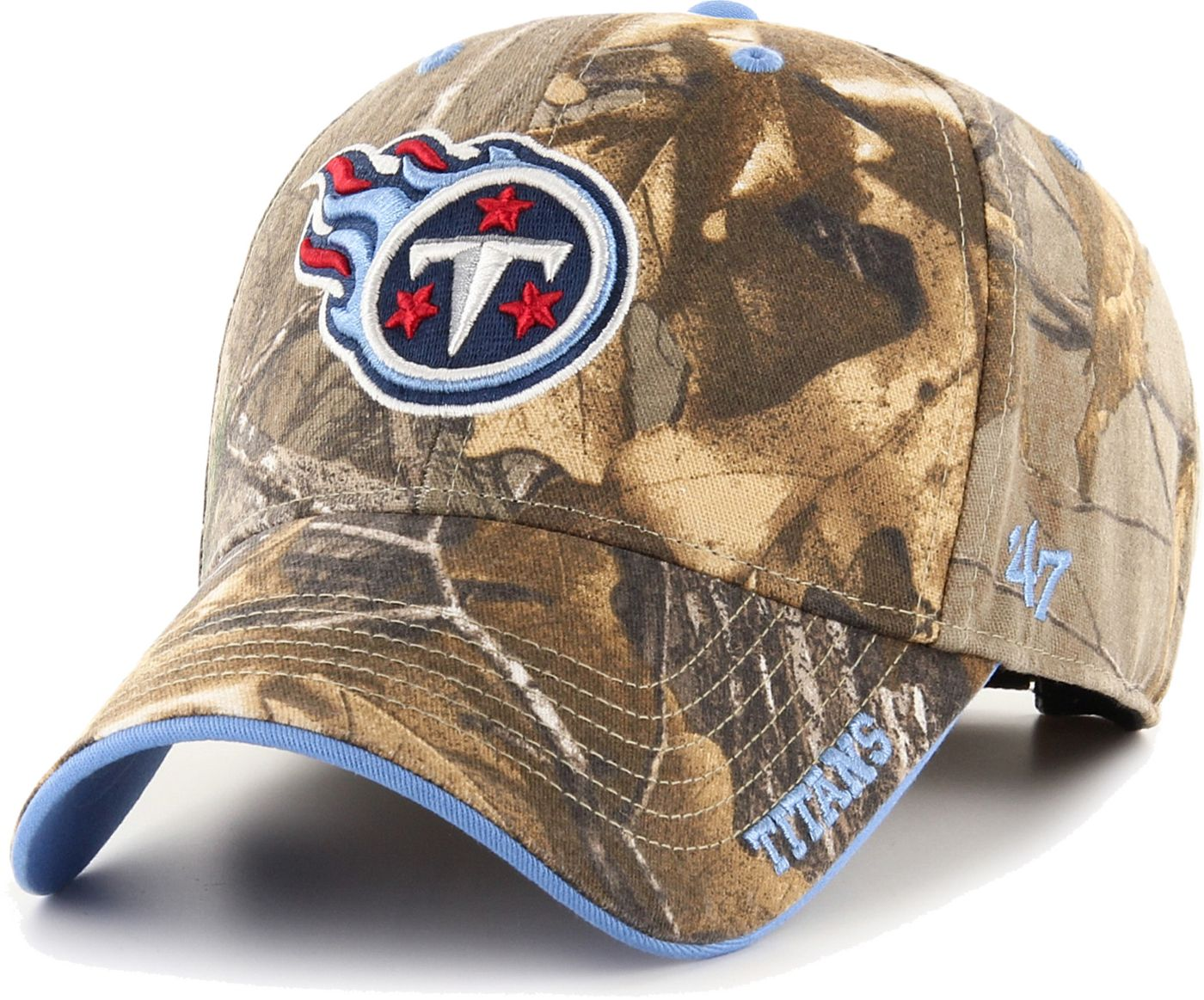 '47 Men's Tennessee Titans Frost Realtree Adjustable Camouflage Hat