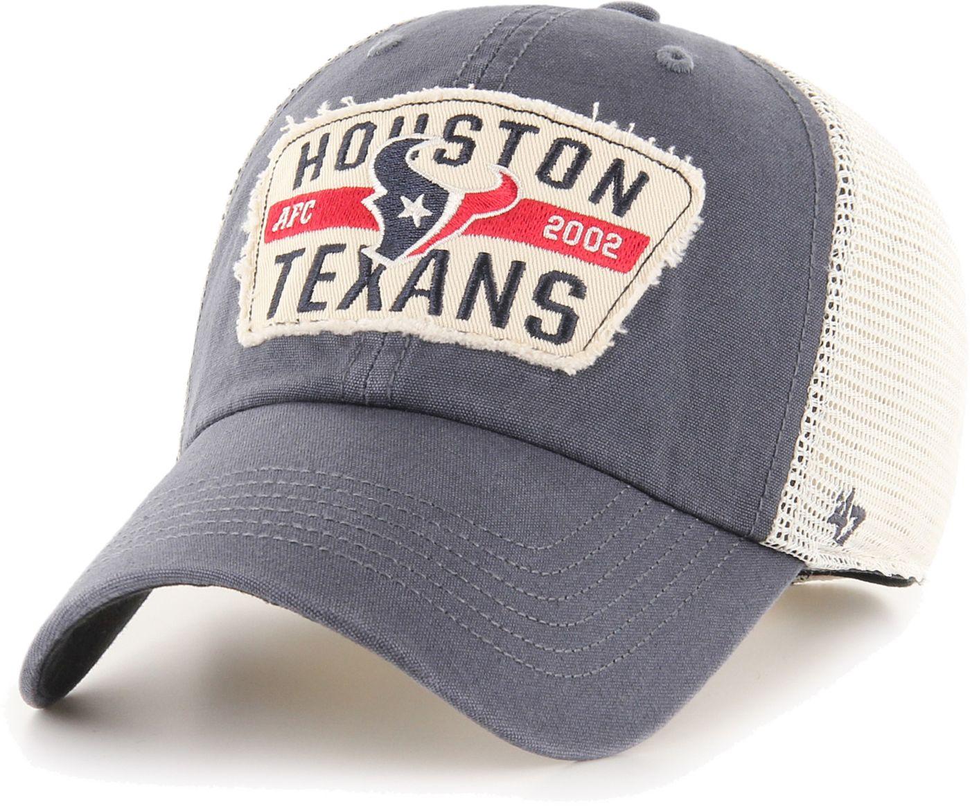 '47 Men's Houston Texans Crawford Clean Up Adjustable Navy Hat
