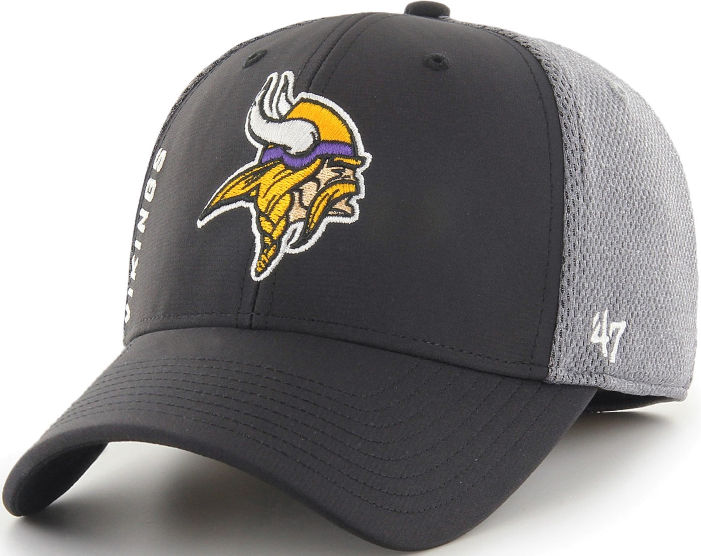 '47 Men's Minnesota Vikings Wycliff Contender Stretch Fit Black Hat