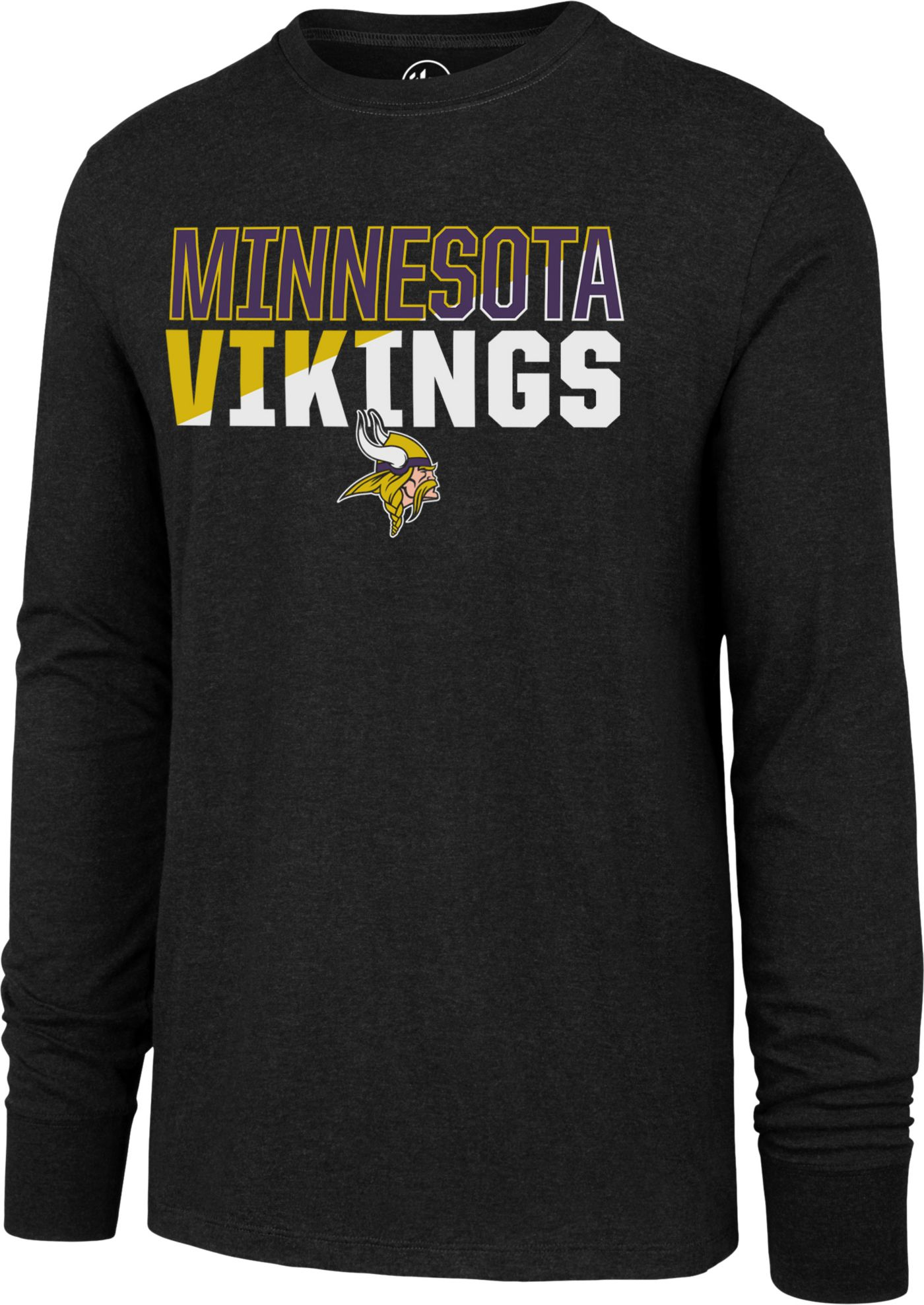 '47 Men's Minnesota Vikings Club Long Sleeve Black Shirt