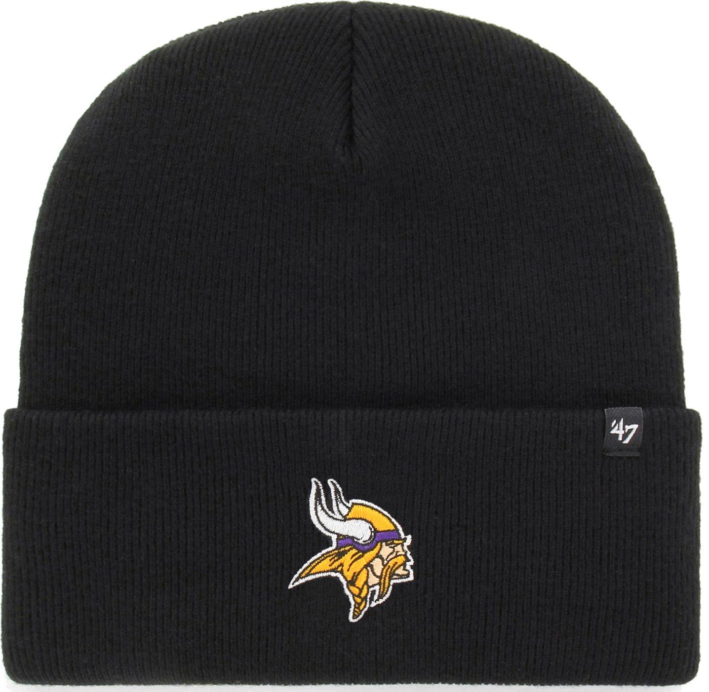 '47 Men's Minnesota Vikings Carhartt Black Knit Hat