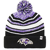 '47 Youth Baltimore Ravens Bubbler Black Knit Hat