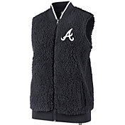 '47 Women's Atlanta Braves Sherpa Full-Zip Vest