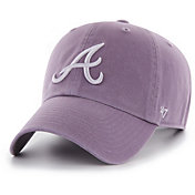 '47 Women's Atlanta Braves Purple Clean Up Adjustable Hat
