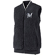 '47 Women's Milwaukee Brewers Sherpa Full-Zip Vest