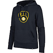 '47 Women's Milwaukee Brewers Navy Headline Pullover Hoodie