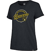 '47 Women's Milwaukee Brewers Navy Match Hero T-Shirt