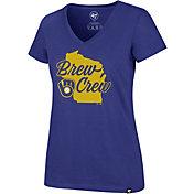'47 Women's Milwaukee Brewers Ultra Rival V-Neck T-Shirt