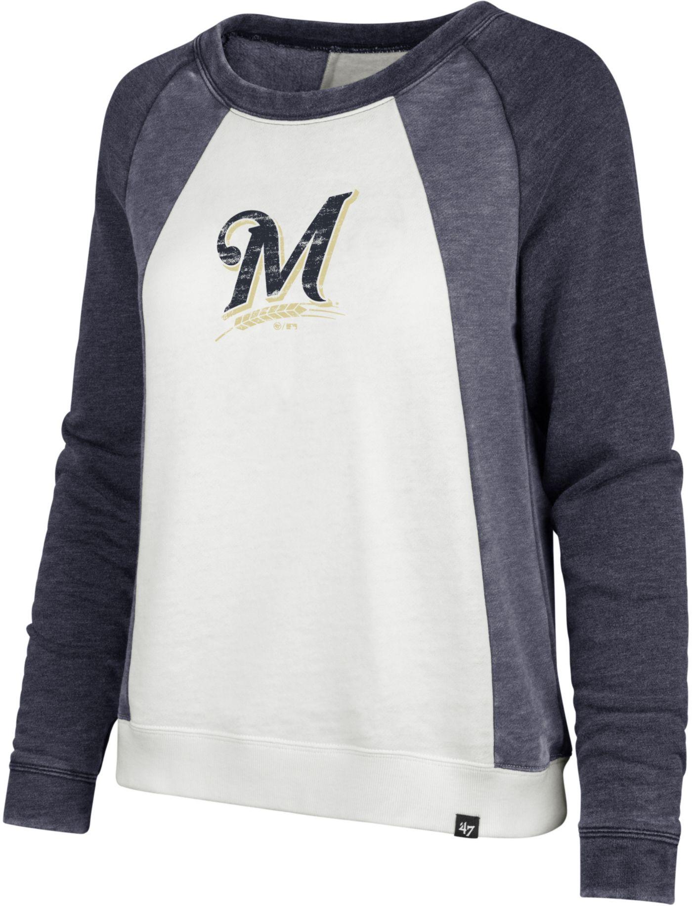 '47 Women's Milwaukee Brewers Long Sleeve Crew Shirt