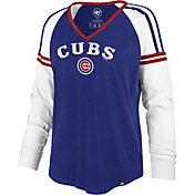 '47 Women's Chicago Cubs Royal Prime Long Sleeve V-Neck T-Shirt