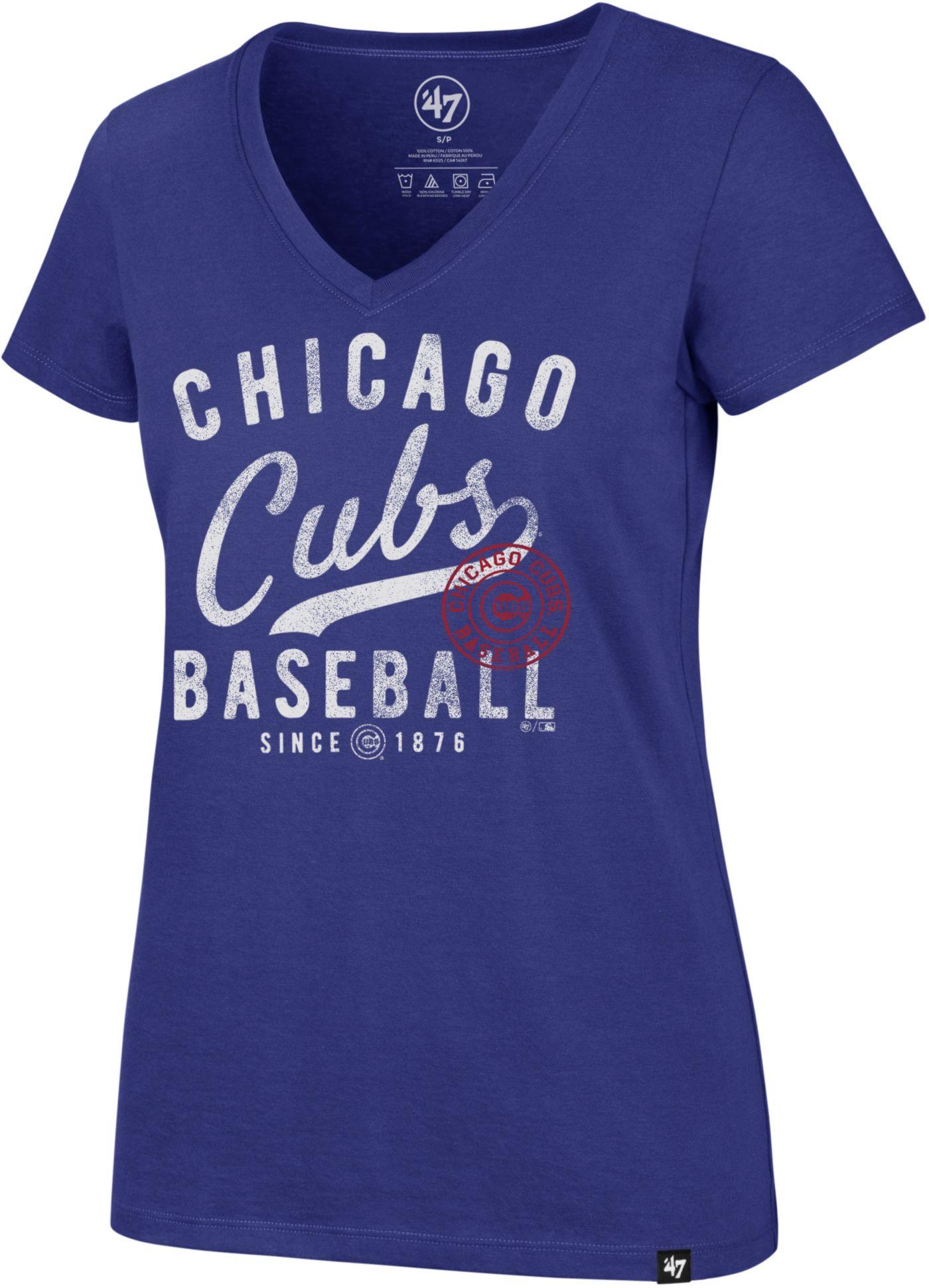 '47 Women's Chicago Cubs Ultra Rival V-Neck T-Shirt