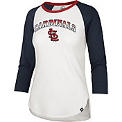 '47 Women's St. Louis Cardinals Red Splitter Raglan Three-Quarter Sleeve T-Shirt