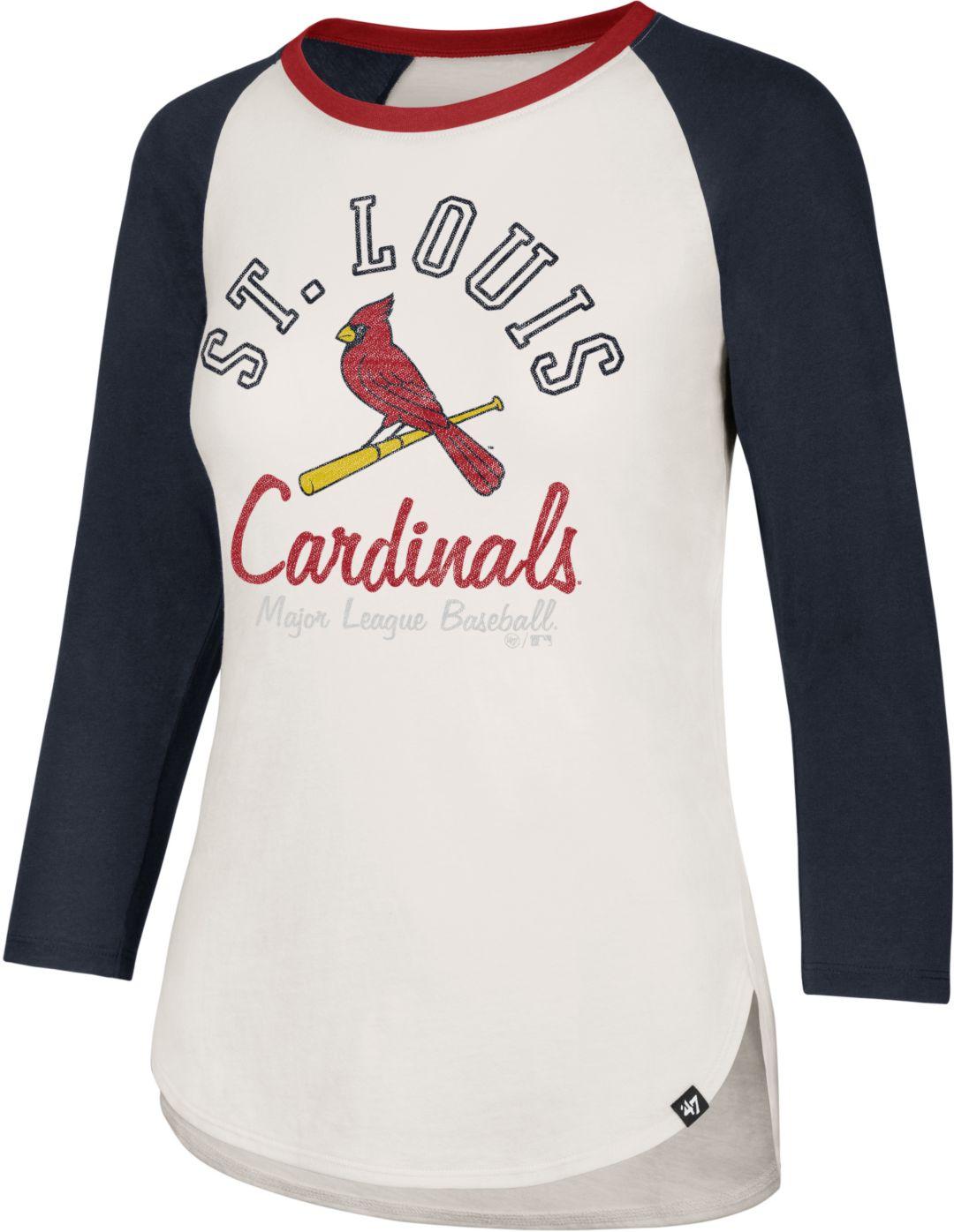 buy online 06808 c9cdd '47 Women's St. Louis Cardinals Splitter Raglan Three-Quarter Sleeve Shirt