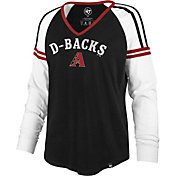 '47 Women's Arizona Diamondbacks Black Prime Long Sleeve V-Neck Shirt