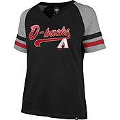 '47 Women's Arizona Diamondbacks Black Pavilion V-Neck T-Shirt