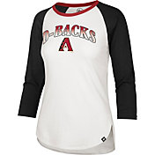 '47 Women's Arizona Diamondbacks Teal Splitter Raglan Three-Quarter Sleeve T-Shirt