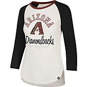 '47 Women's Arizona Diamondbacks Splitter Raglan Three-Quarter Sleeve Shirt
