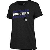 '47 Women's Los Angeles Dodgers Tri-Blend V-Neck T-Shirt