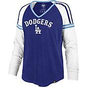 '47 Women's Los Angeles Dodgers Royal Prime Long Sleeve V-Neck Shirt