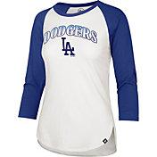 '47 Women's Los Angeles Dodgers Dodger Blue Splitter Raglan Three-Quarter Sleeve T-Shirt